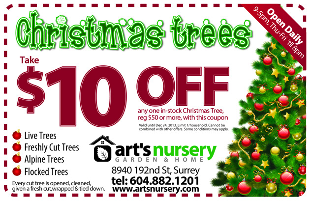 Special Christmas Tree Coupon Offers