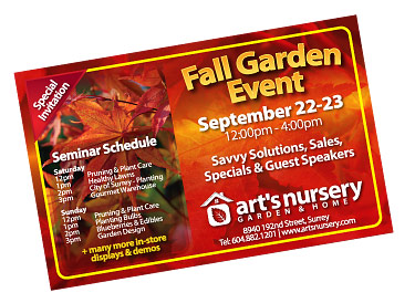 arts 11th annual fall garden event