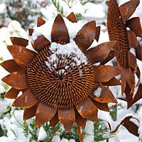 Garden Accents in Winter