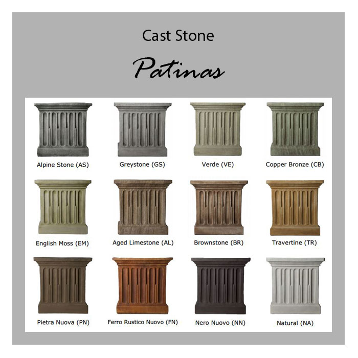 Campania Cast Stone Patinas