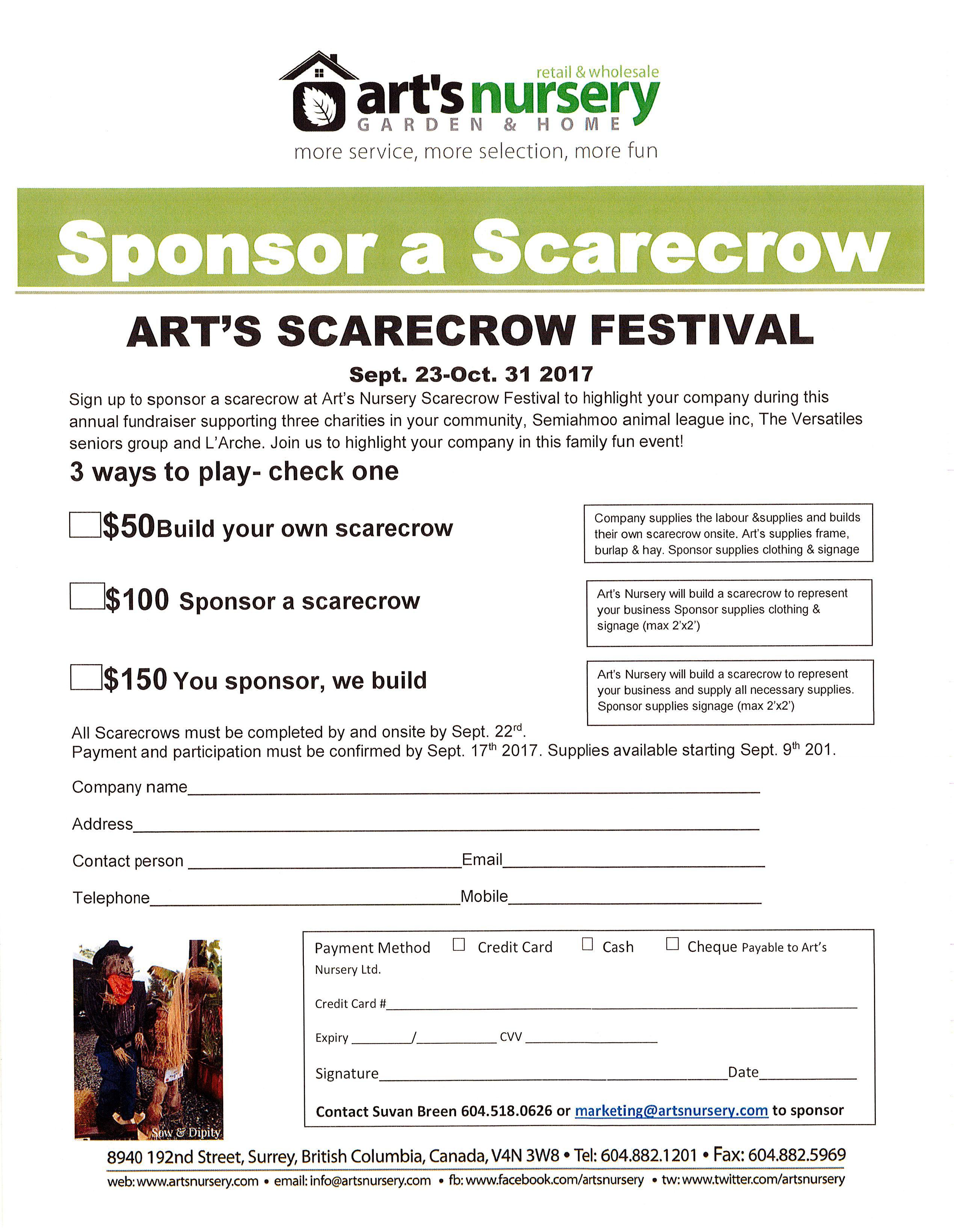 scarecrow sponsorship form