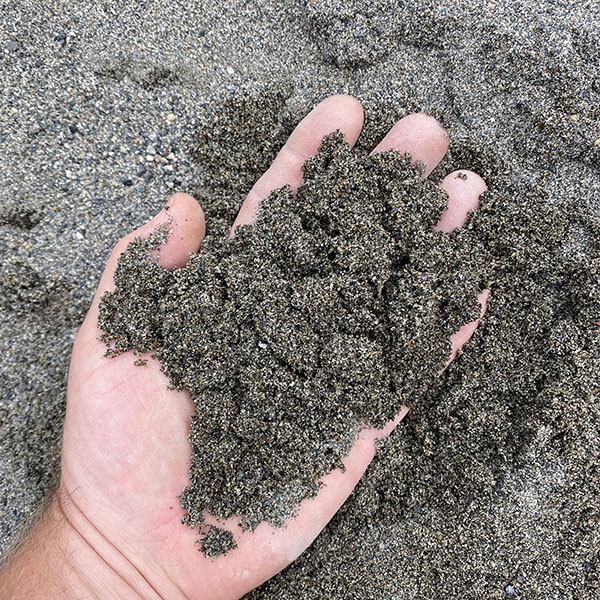 washed sand