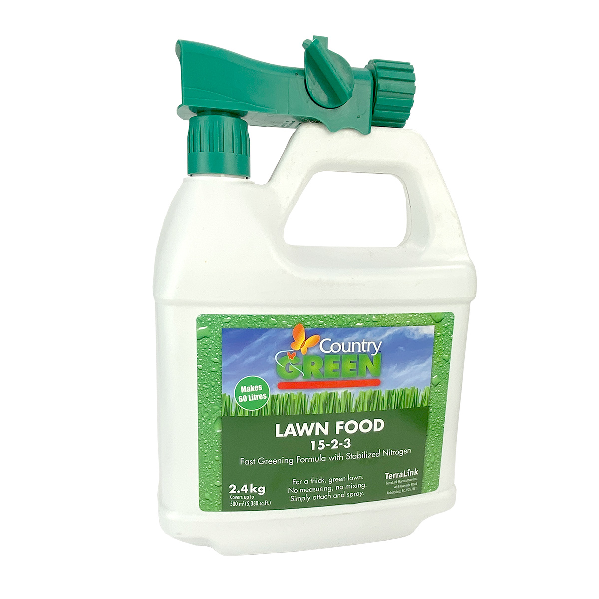 Country Green Lawn Food 15-2-3 2.4kg