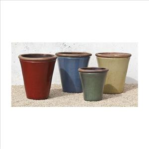 Annecy Tall Planter - Large in Rustic Red
