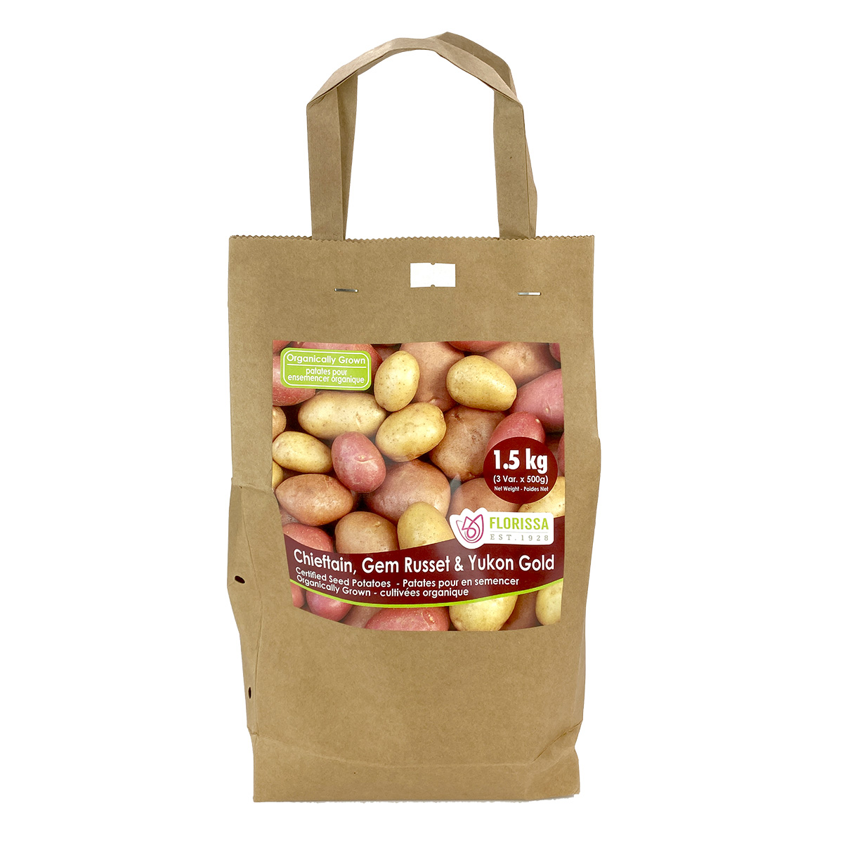 Certified Seed Potatoes Chieftain Gem Russet and Yukon Gold 1.5kg