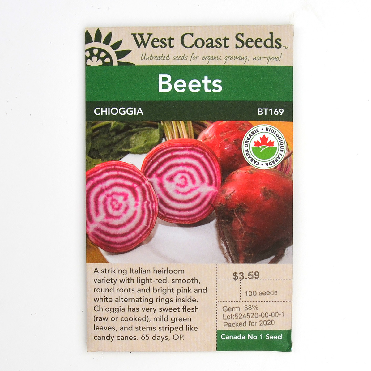 Beets Chioggia Seeds BT169