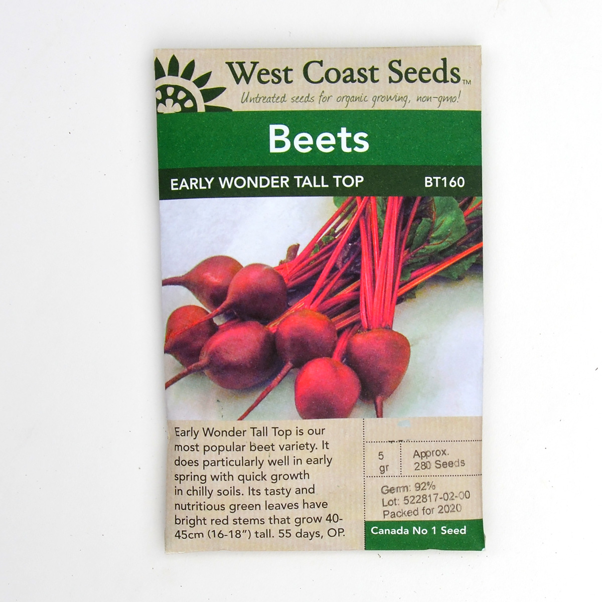 Beets Early Wonder Tall Top Seeds BT160