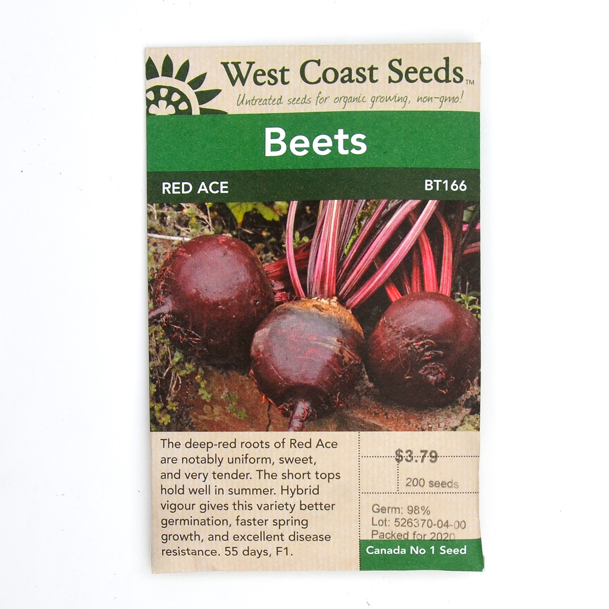 Beets Red Ace Seeds BT166