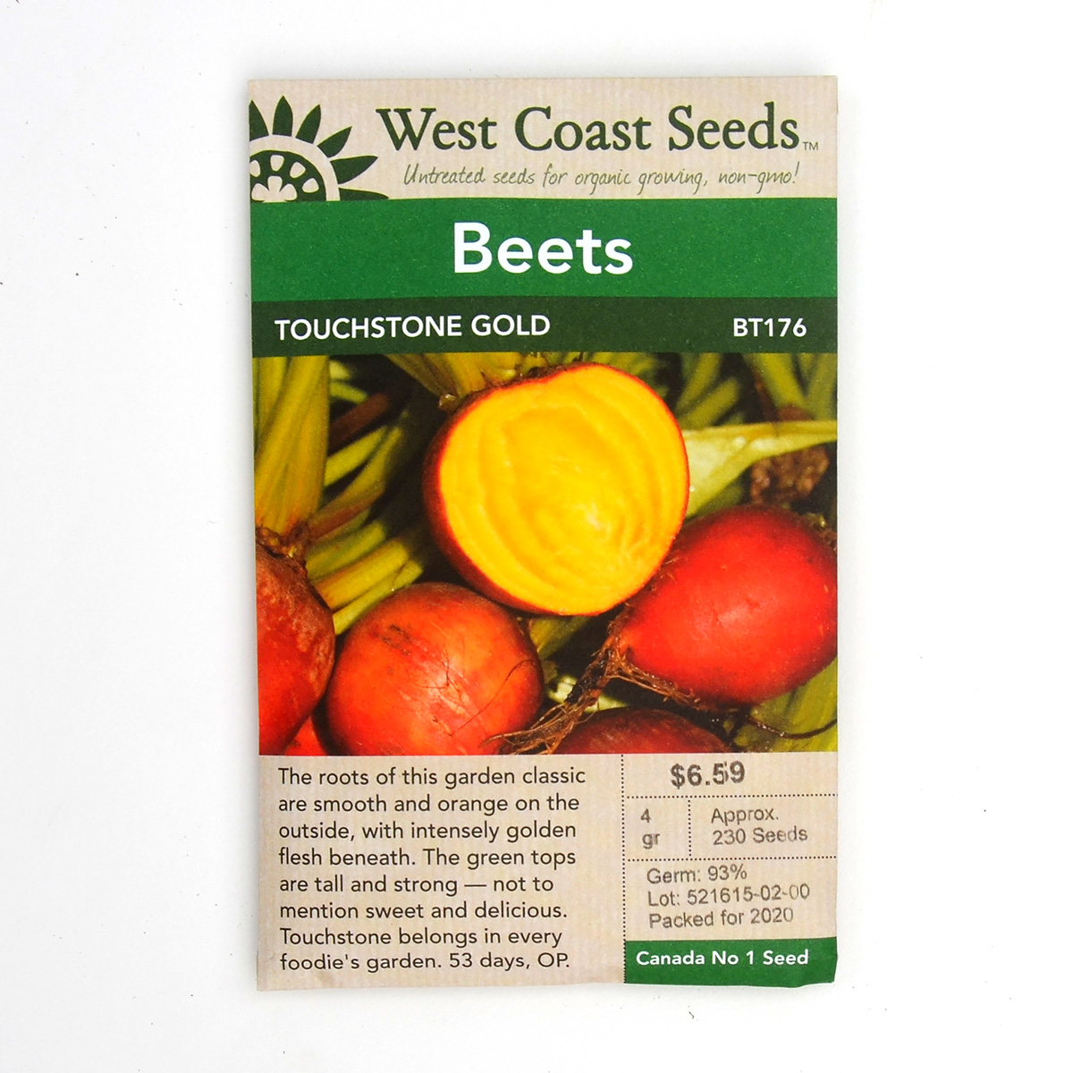 Beets Touchstone Gold Seeds BT176