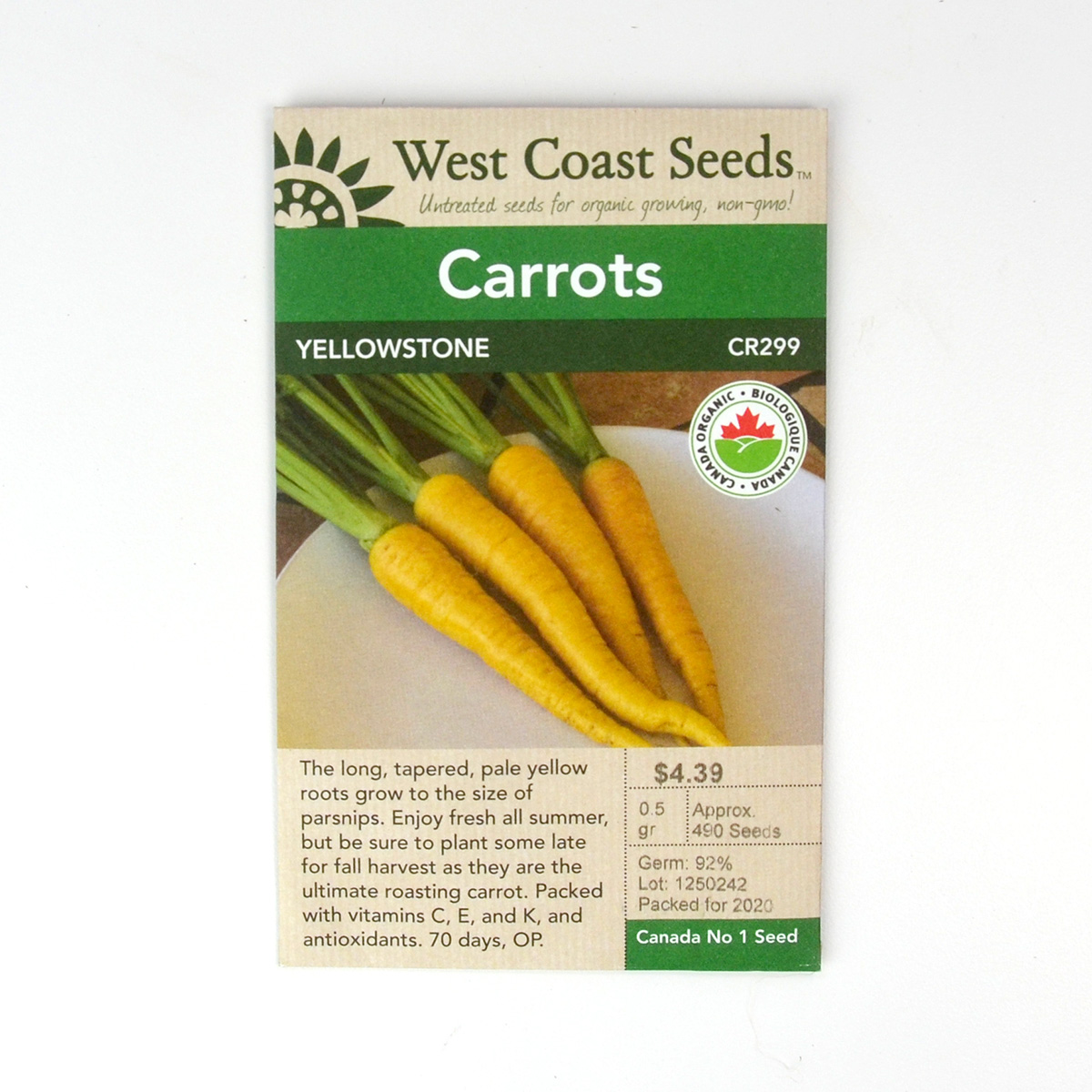 Carrot Yellowstone Seeds CR299