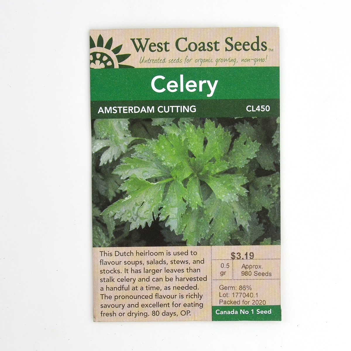 Celery Amsterdam Cutting Seeds CL450