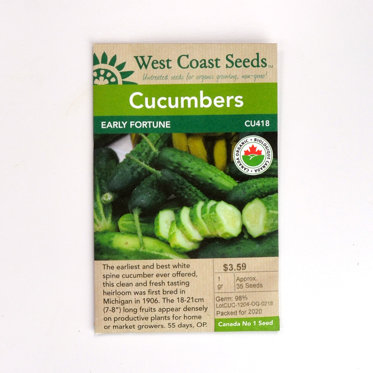 Cucumbers Early Fortune Seeds CU418
