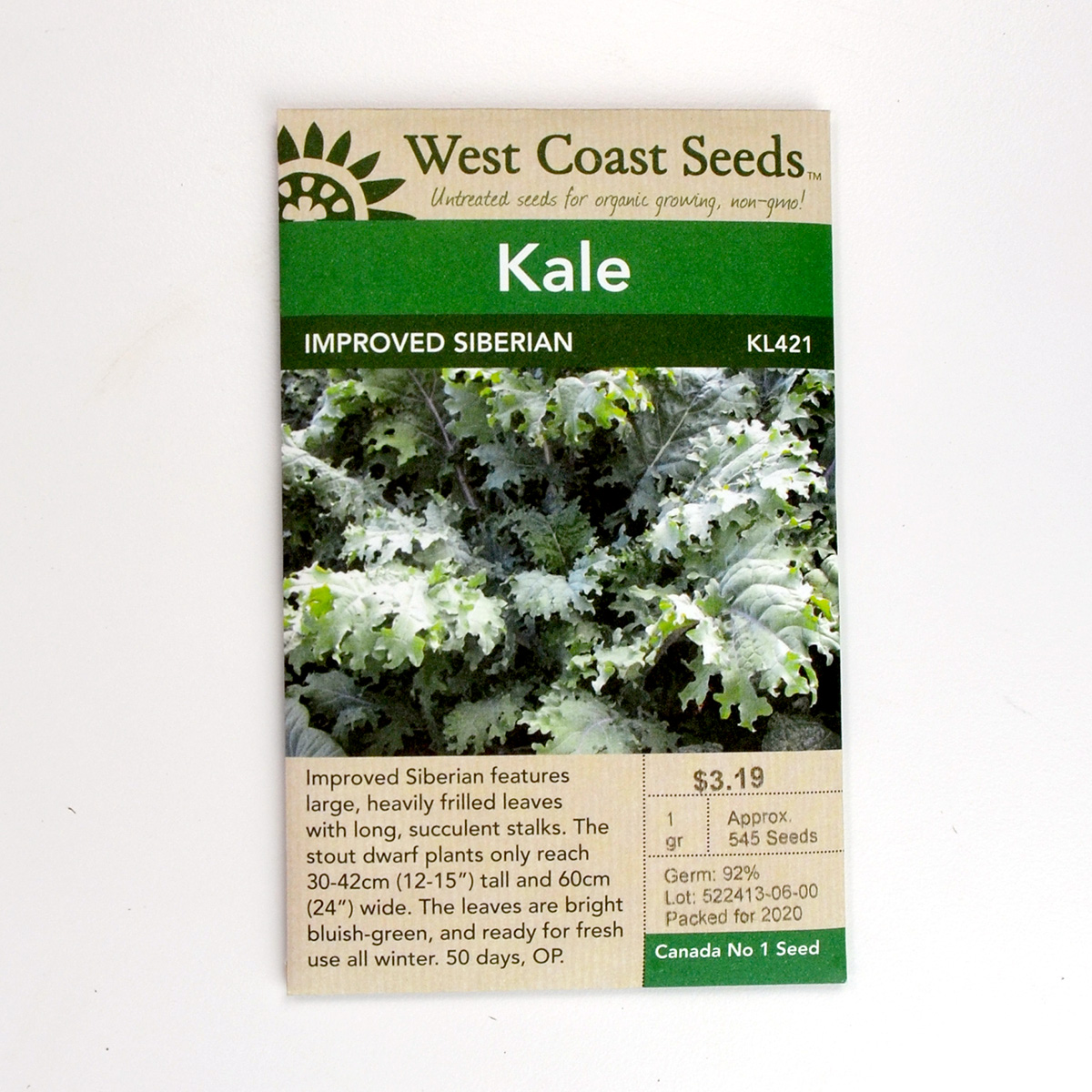 Kale Improved Siberian Seeds KL421