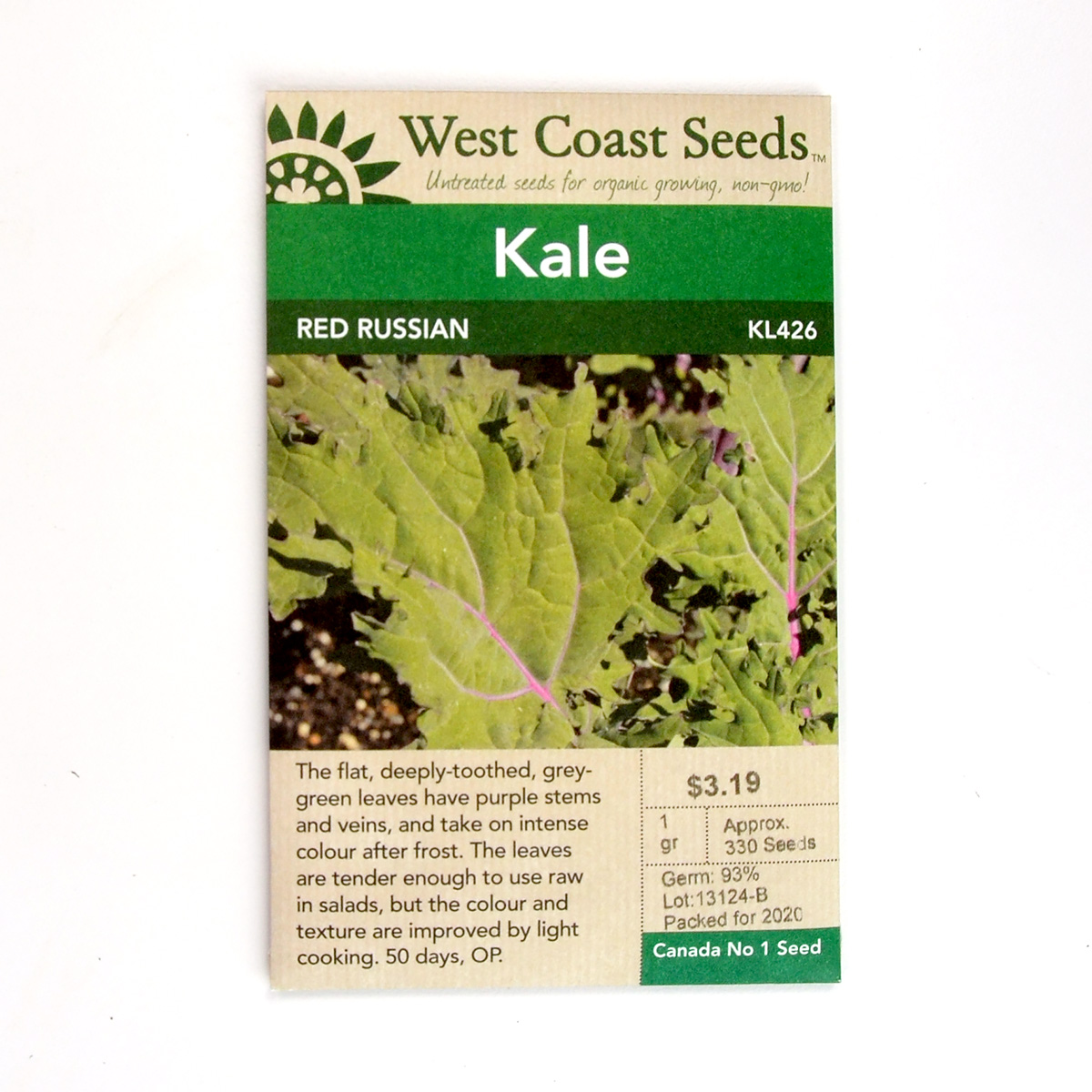 Kale Red Russian Seeds KL426