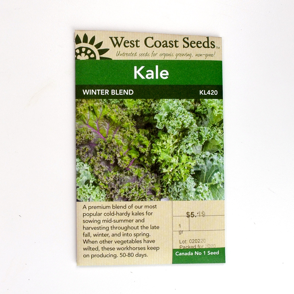 Kale Winter Blend Seeds  KL420