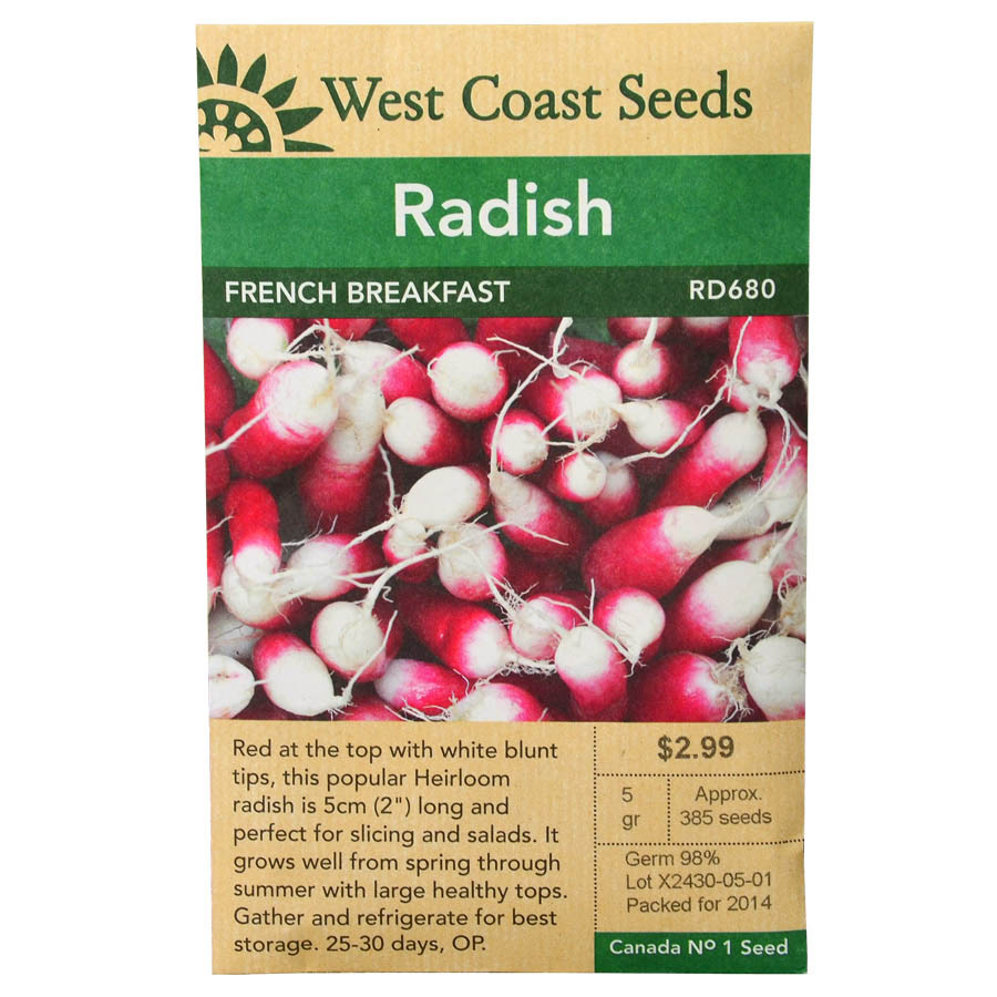 Radish French Breakfast Seeds | West Coast Seeds