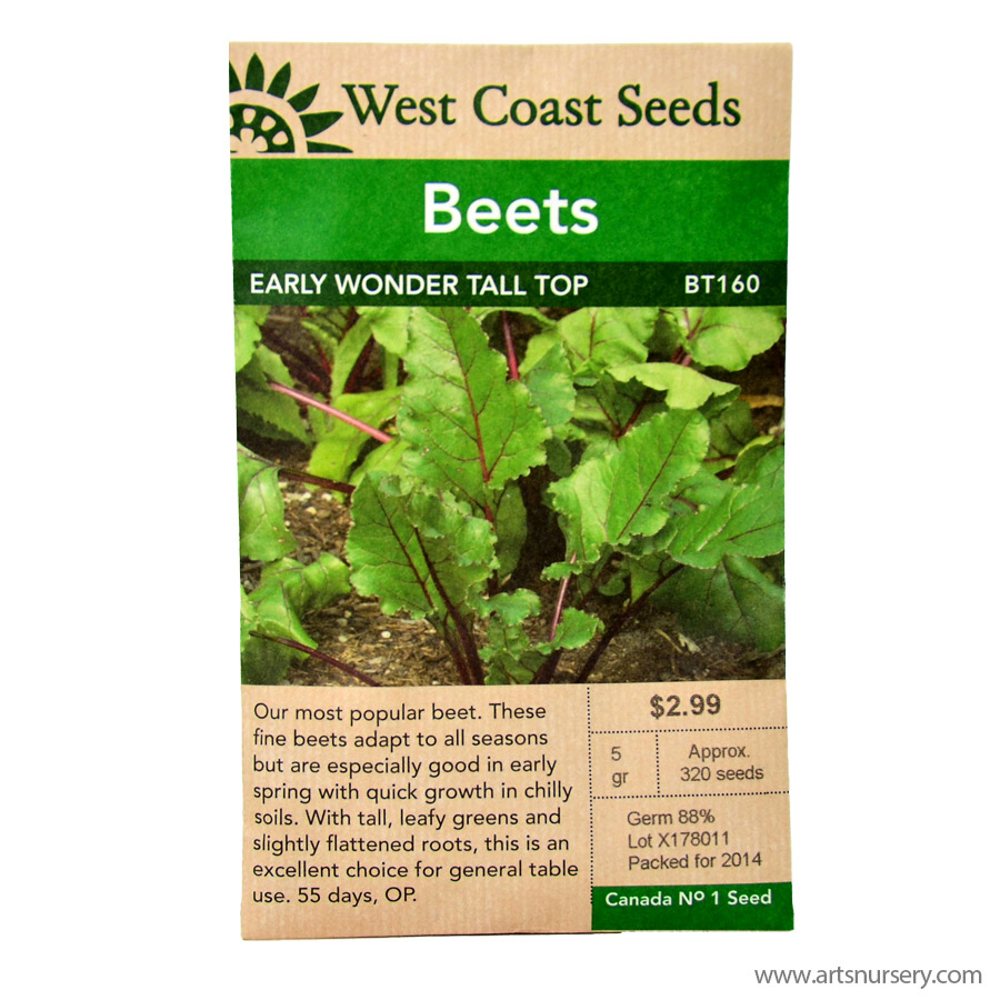 Beets Early Wonder Tall Top Seeds | West Coast Seeds