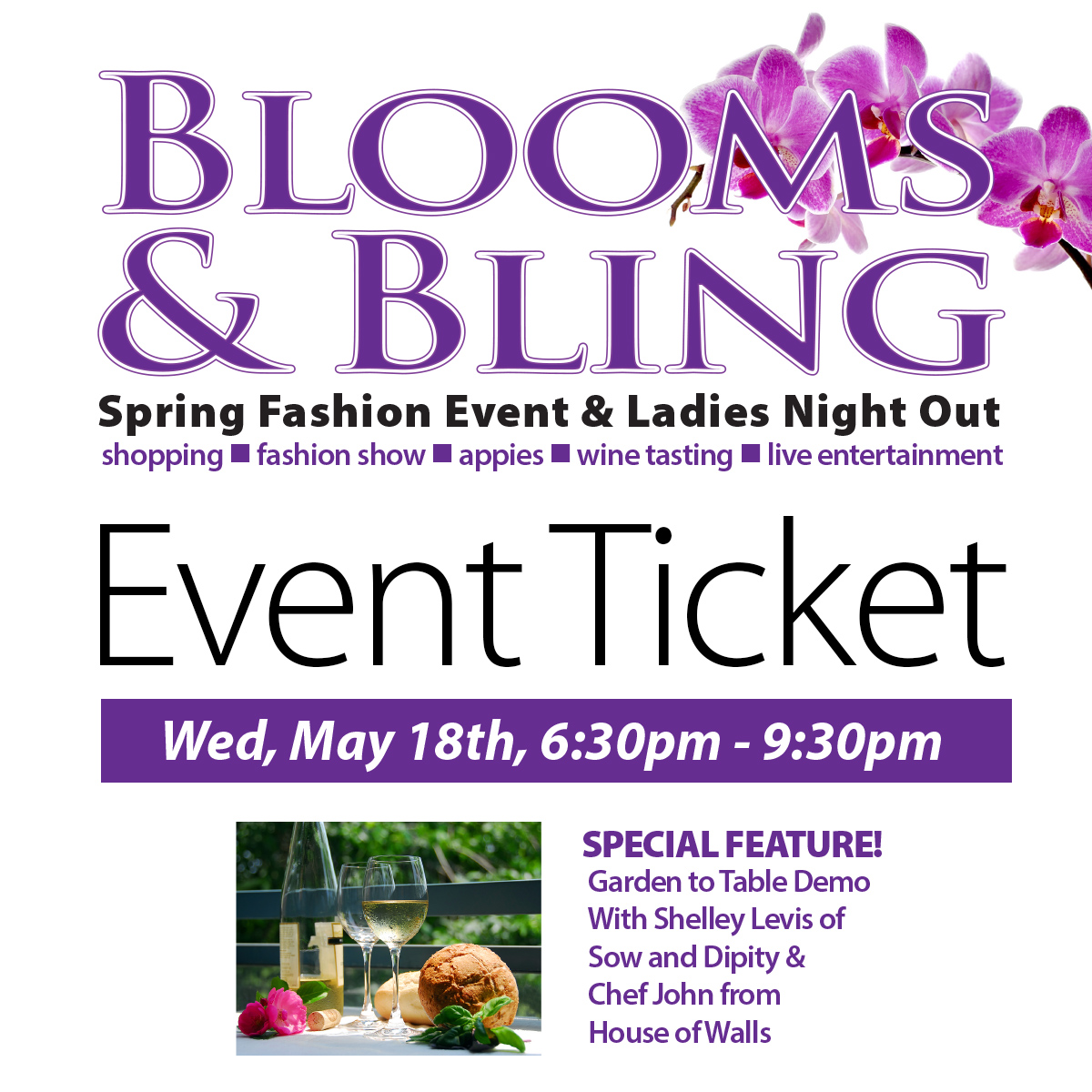 Blooms & Bling 2016 Ticket