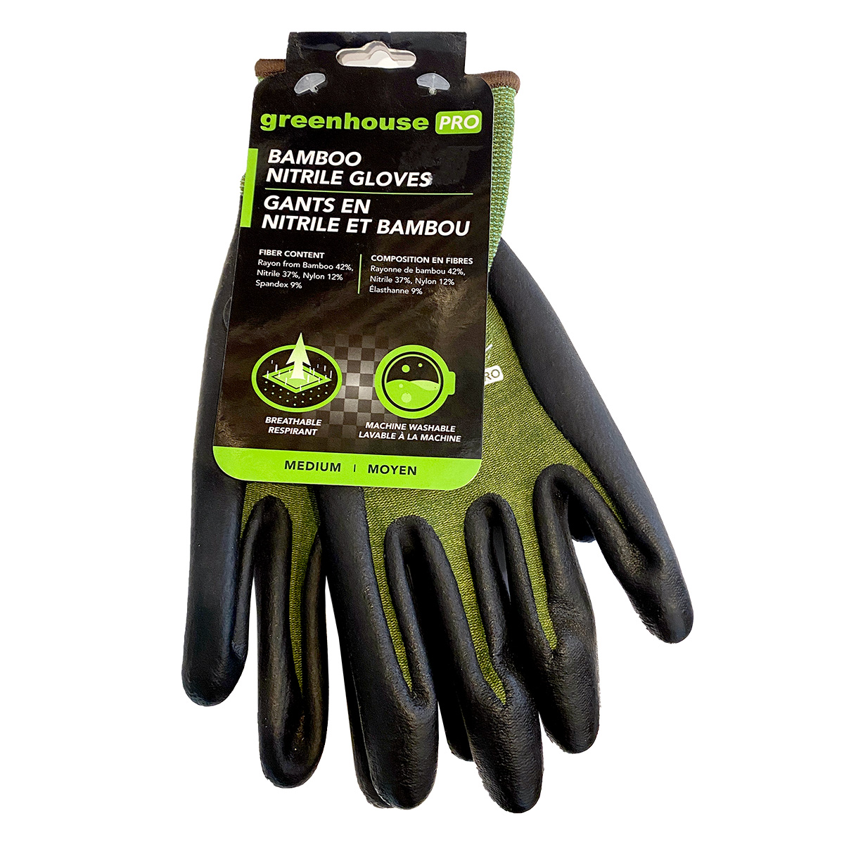 GREENHOUSE PRO Bamboo Nitrile Gloves MEDIUM