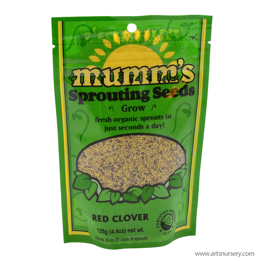 Mumms Sprouting Seeds Red Clover 125g