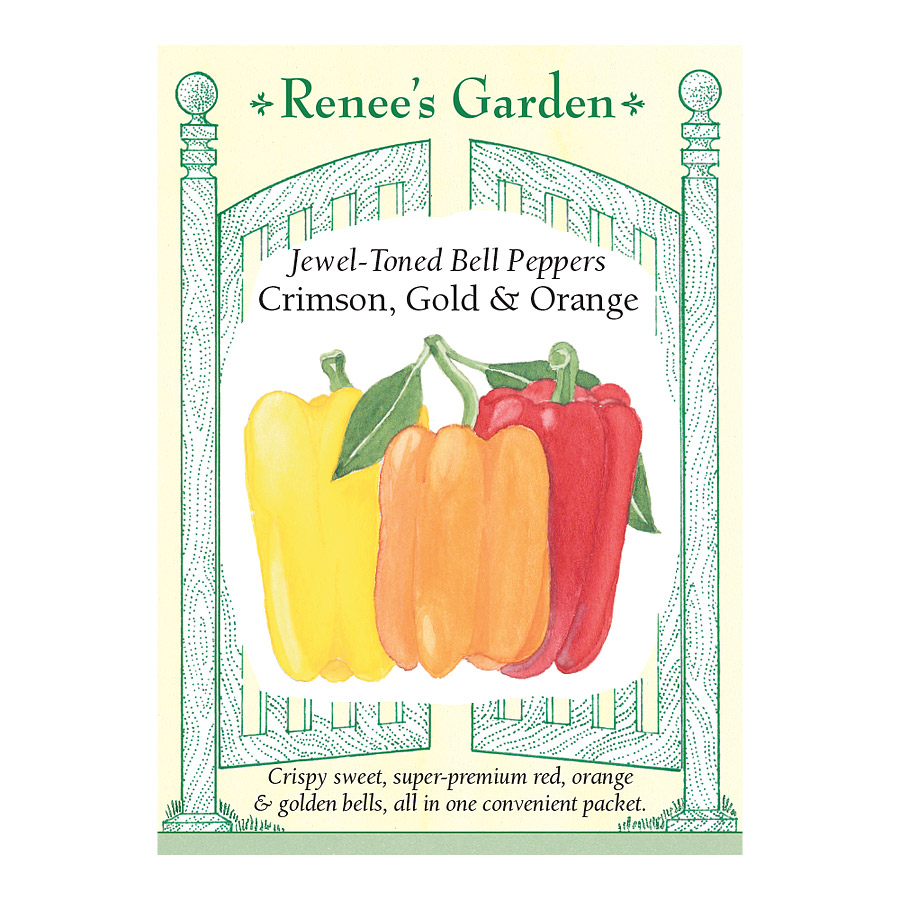 Crimson Gold and Orange Jewel Toned Bell Pepper Seeds