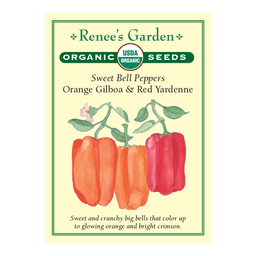Orange Gilboa and Red Yardenne Sweet Bell Pepper Seeds