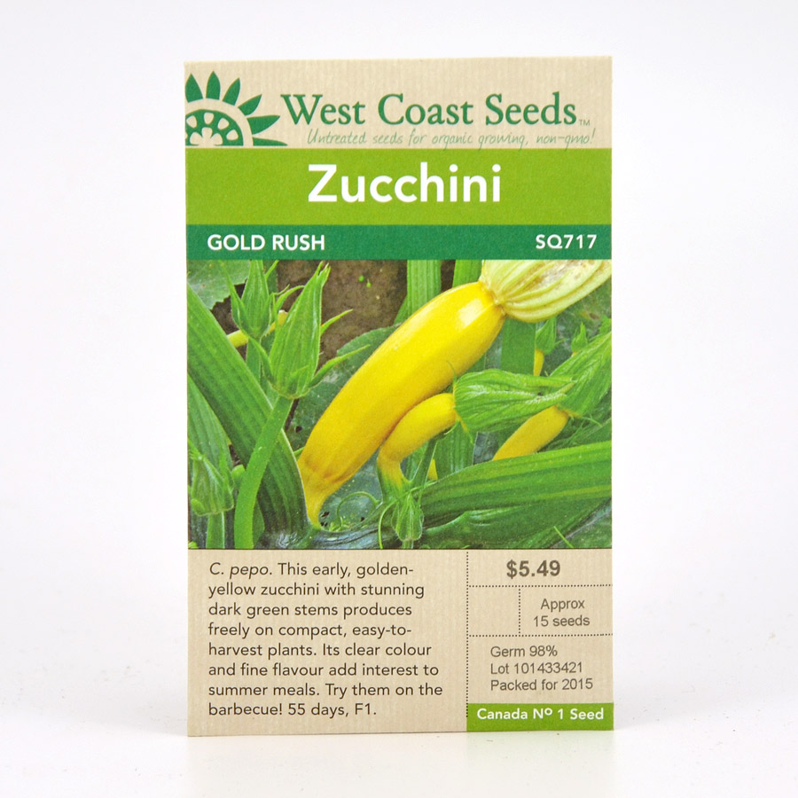 Gold Rush Zucchini Seeds